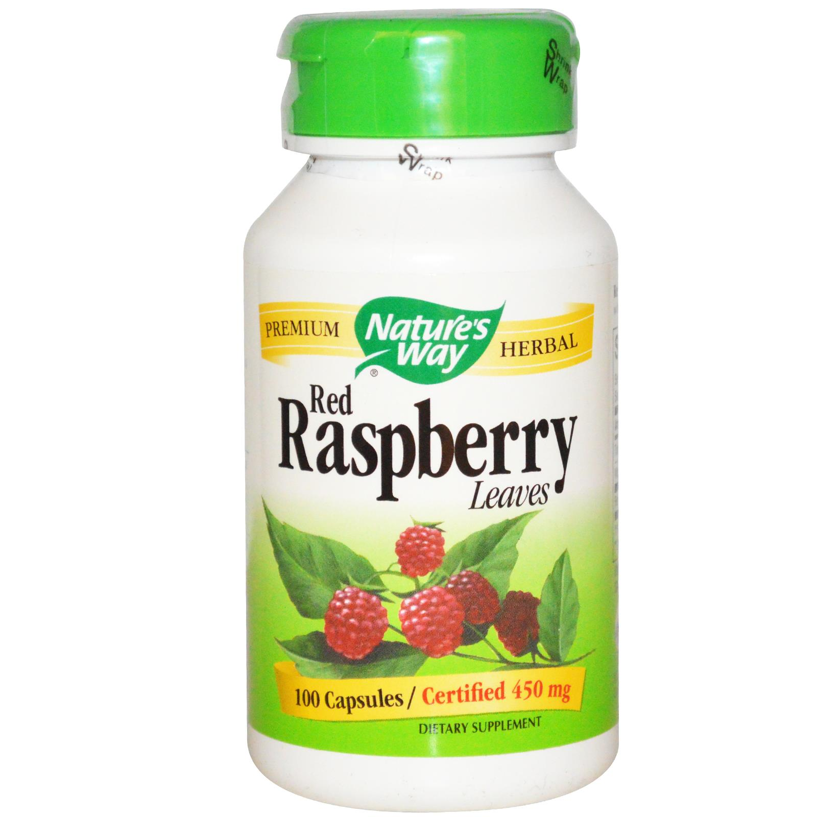 Raspberry leaf tea capsules