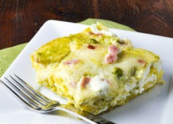 Sweet Pea and Ham Lasagna Recipe