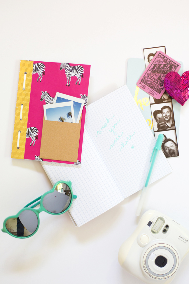 pink-zebra-travel-journal-camera-instax-sunglasses