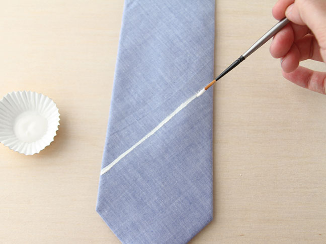 How To Hand Paint a Tie // Step 2