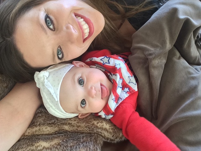 Jenny Studenroth and baby daughter