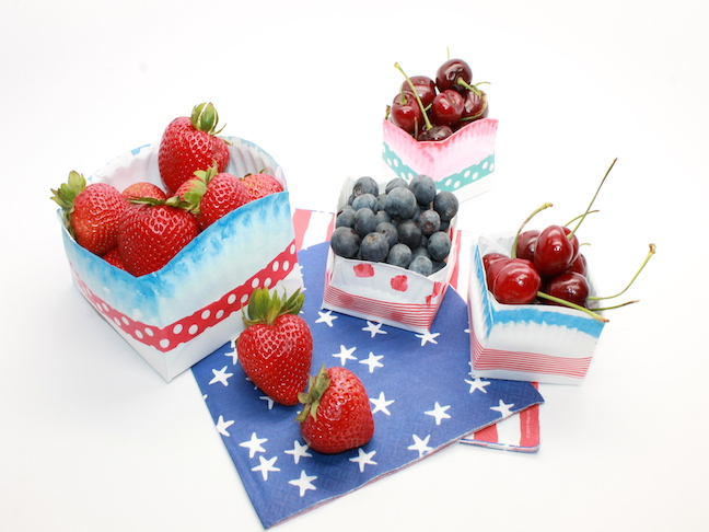 How to Make Fourth of July Paper Plate Bowls  sc 1 st  Momtastic & Mom Hack: How to Turn Paper Plates Into Bowls