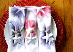 DIY Star Spangled Fourth of July Napkins