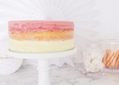 How to Make the Easiest Ombré Sherbet Ice Cream Cake