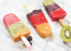 How to Make Colorblocked Homemade Fruitsicles