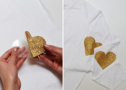 DIY Glitter Elbow Patches