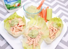 Buffalo Chicken Lettuce Wraps with Avocado Ranch Recipe