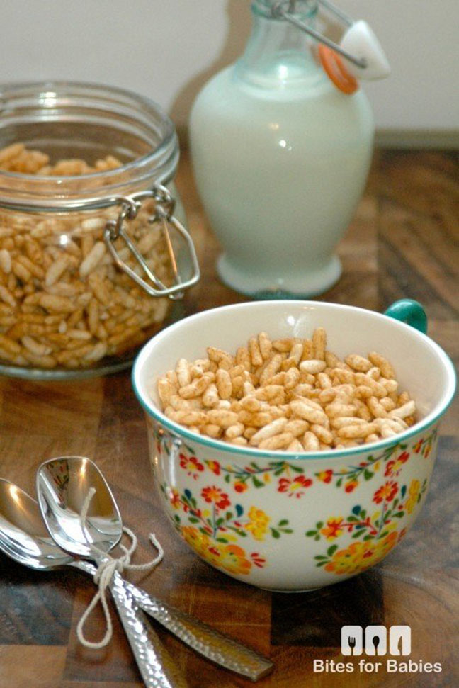All natural homemade puffed rice cereal recipe for babies while my babys health is my top priority ill admit to not always feeling like i have the time and energy to put together homemade nutritious meals for ccuart Image collections