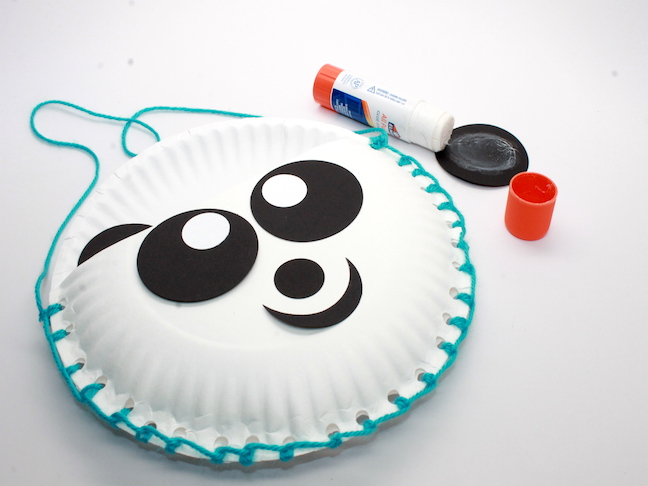 paper plate panda face card stock