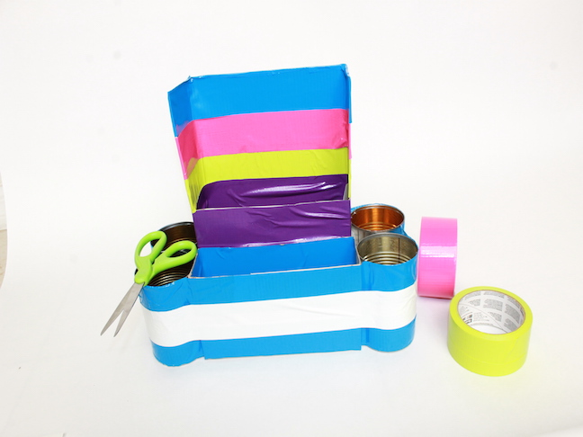DIY Homework Station: duct tape