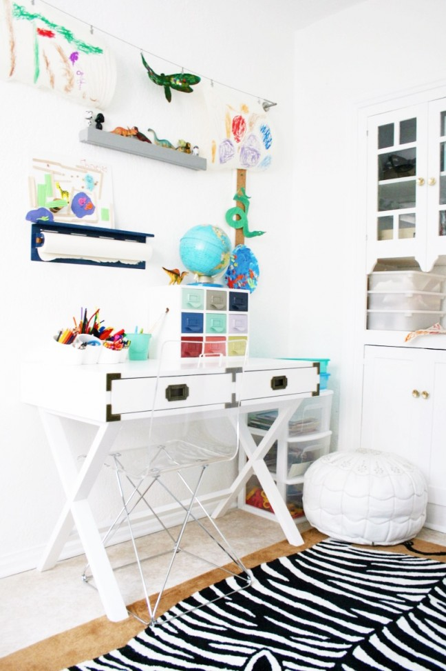 Kids Art Room Desk Space