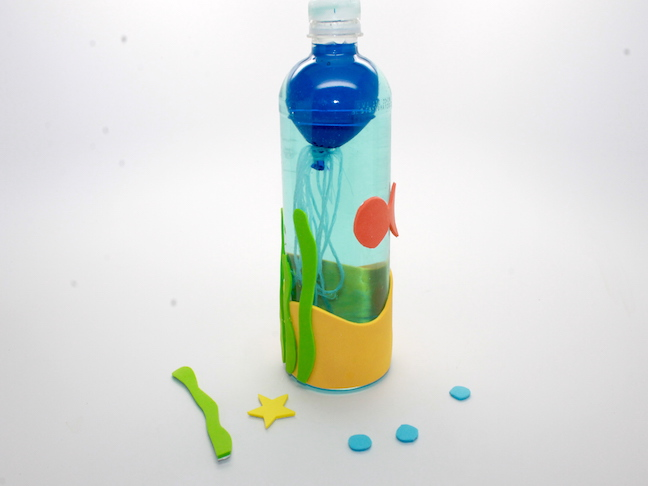 craft foam on water bottle