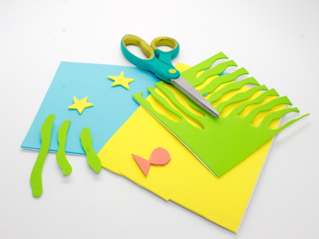 craft foam with scissors