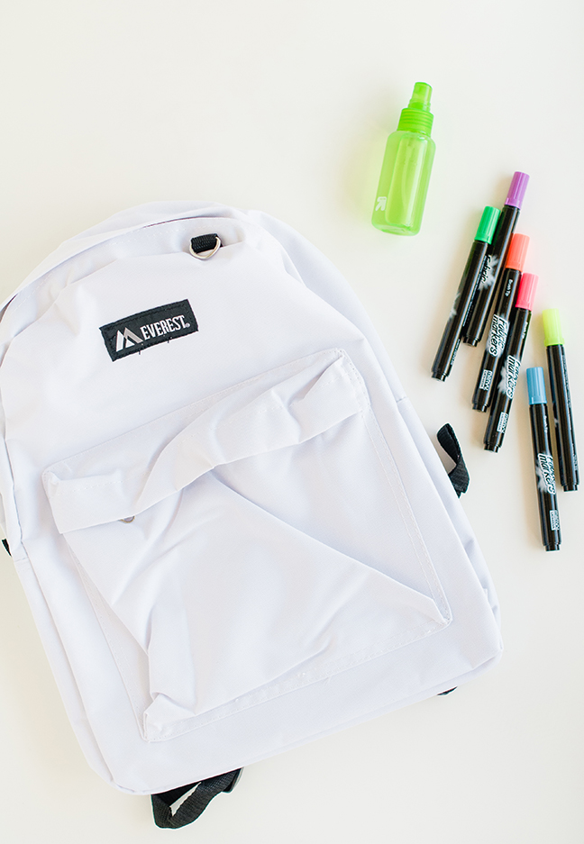 DIY Watercolour Backpack