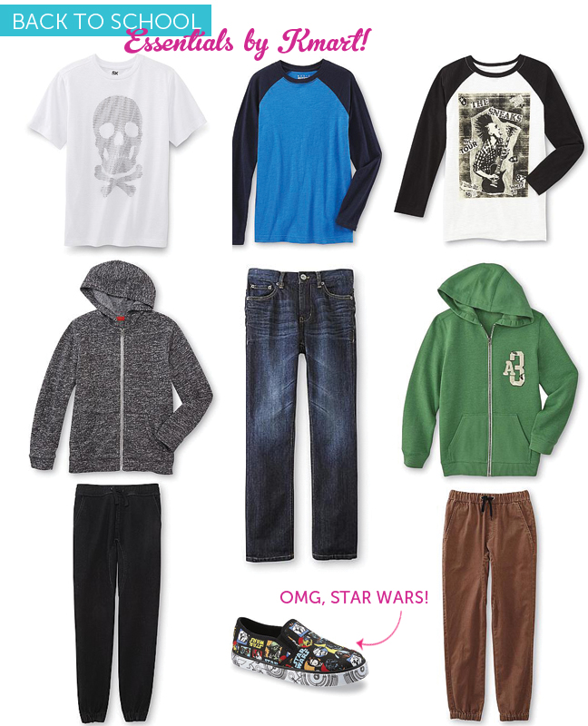 boys outfits for first day of school from Kmart