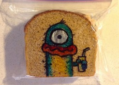 Most Creative Dad Ever! Awesome Lunch Bag Art