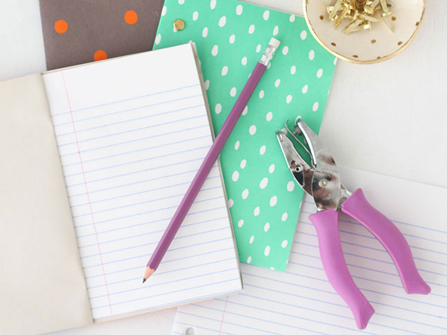 Make these easy back to school notebooks with your kids