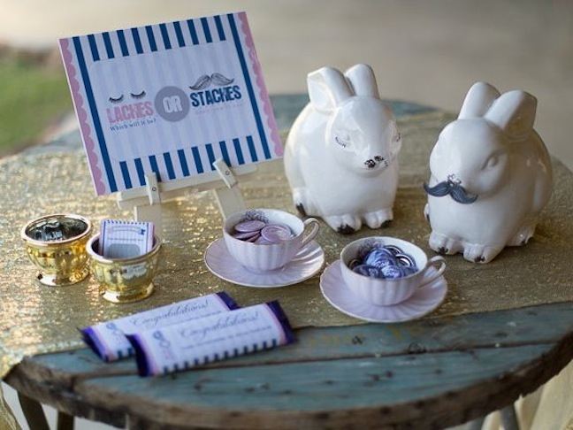 white-bunny-lashes-staches-pink-blue-baby-shower-chocolate-gold-tea-cup