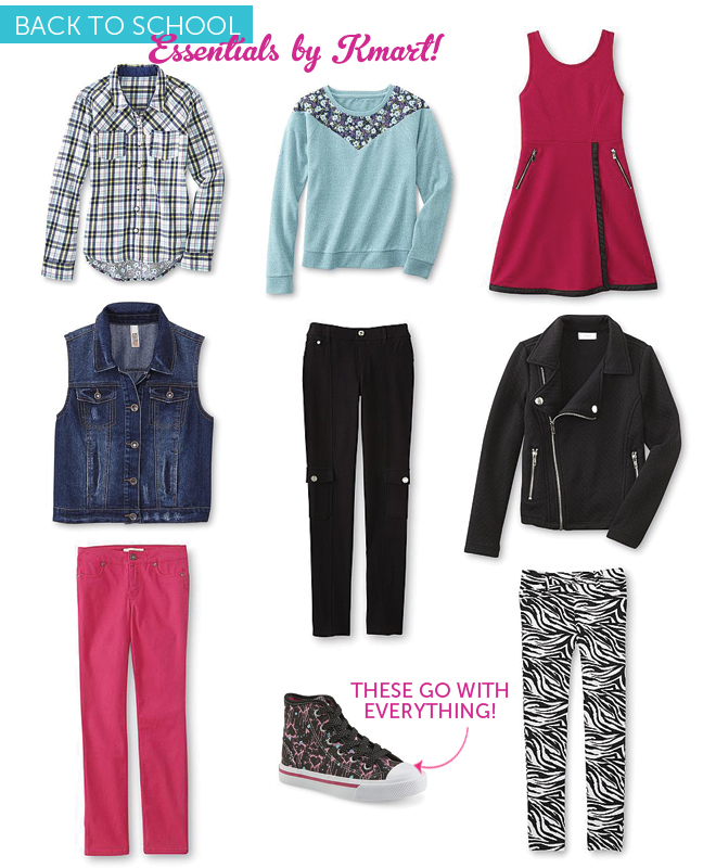 girls outfits for first day of school from Kmart
