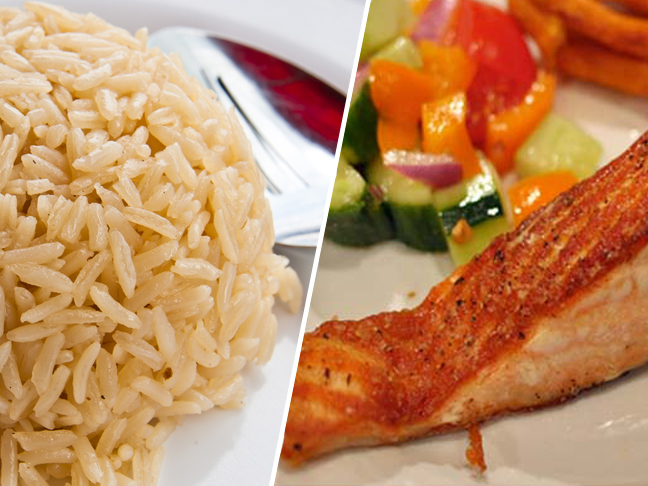 salmon-brown-rice