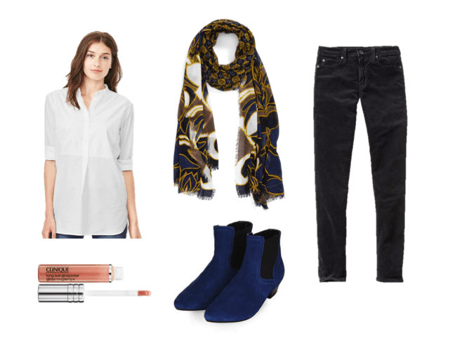 Mom Style Indigo and Gold Fall Color Trend