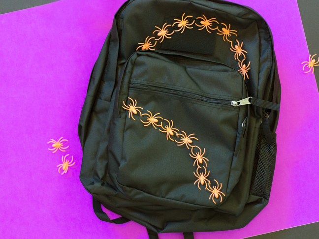 diy-spider-pattern-on-backpack