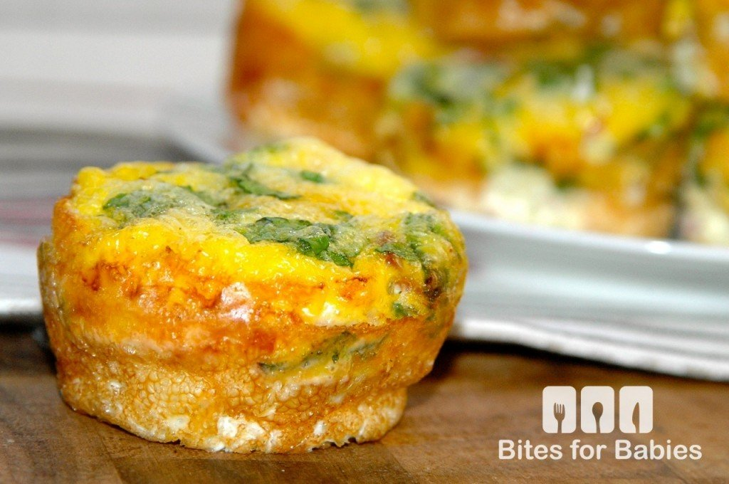 Mini Ham Spinach Quiches