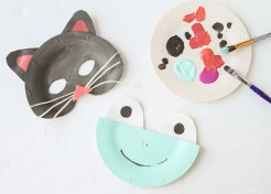DIY Paper Plate Animal Masks for Halloween
