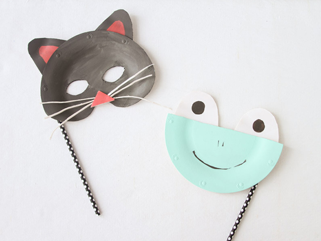 Halloween Animal Masks & DIY Paper Plate Animal Masks for Halloween - Momtastic.com