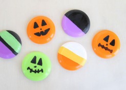 Candy Alternative: Mini Painted Frisbees for Halloween