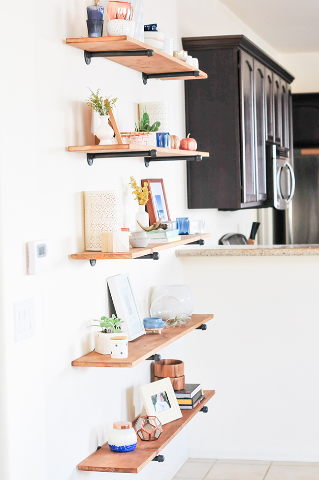 diy industrial shelf
