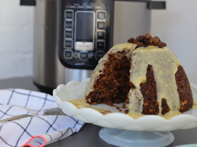 Slow cooker Christmas pudding recipe