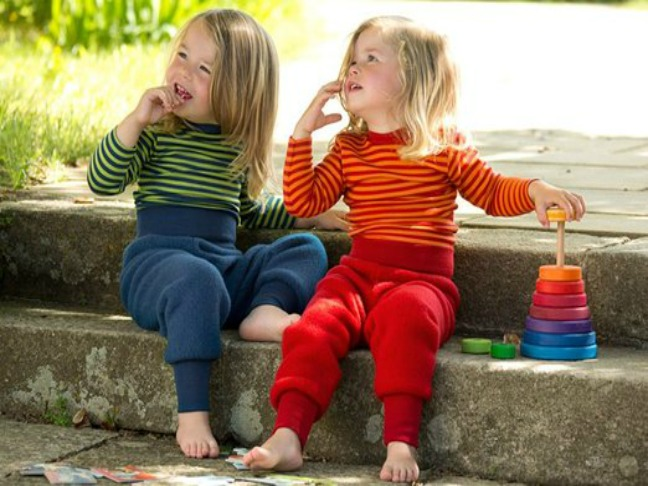 children in thermal striped underwear (1)