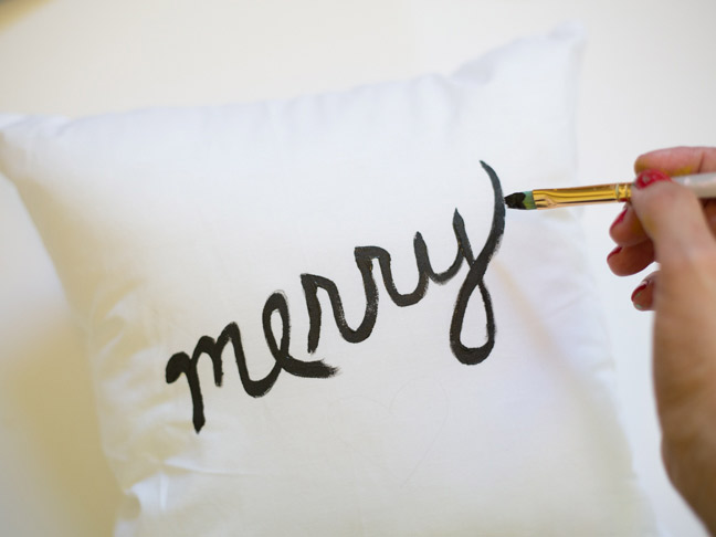 hand-painting-merry-throw-pillow