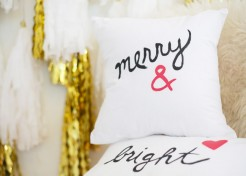 DIY Pottery Barn Inspired Holiday Throw Pillows