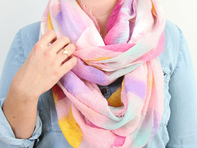 DIY Watercolor Scarf