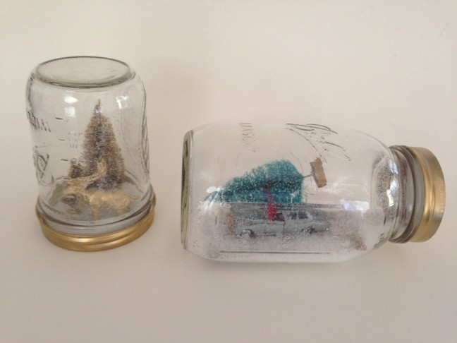 DIY mason jar snow globe from Chandra Fredrick for Momtastic