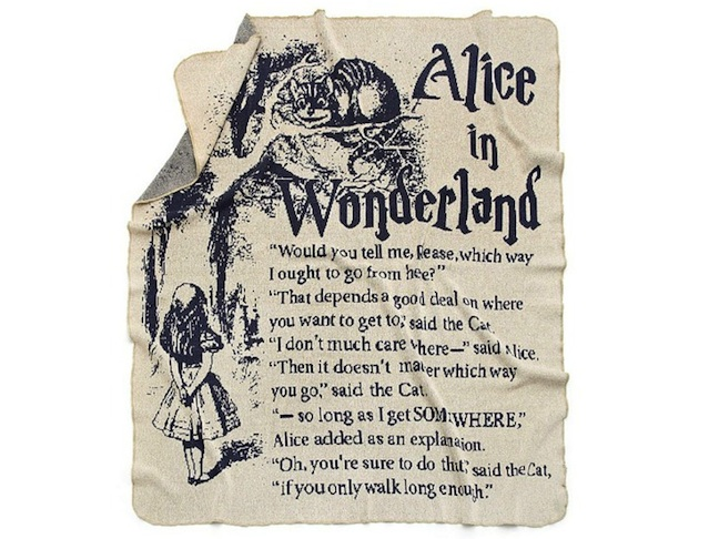 Alice in Wonderland Story Blanket