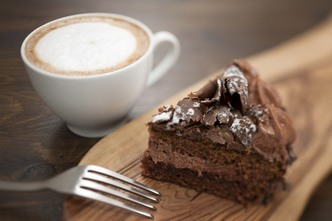coffee-chocolate-cake-foam-espresso-fork-wood