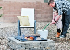 The Easiest Modern DIY Fire Pit You Can Put Together in One Hour