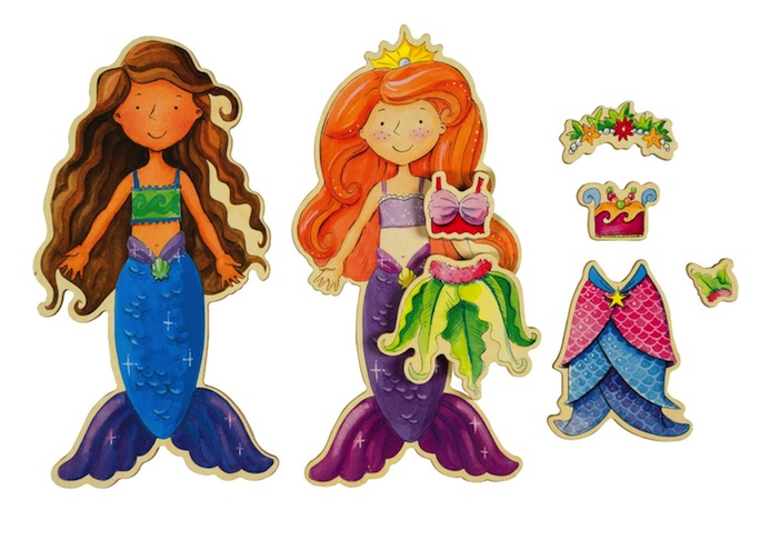 Mermaid Magnet Dress-Up Dolls