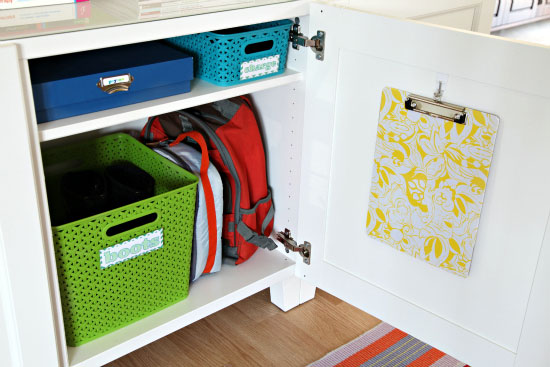 School bag storage solutions