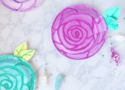 DIY Watercolor Paper Flower Favor Box