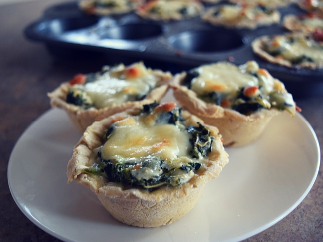 spinach cheese cups