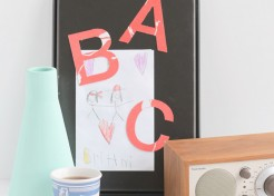 DIY Fabric Alphabet Magnets