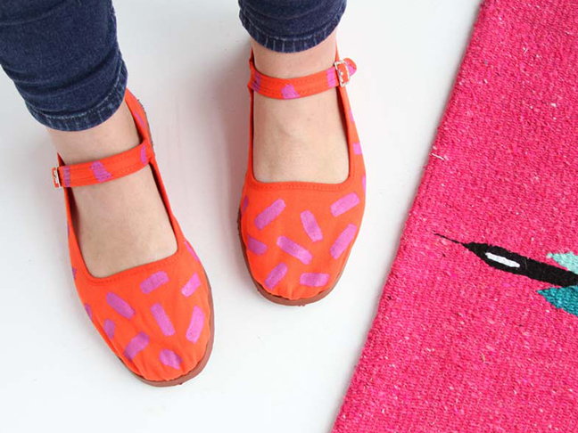 DIY Painted Patterned Shoes