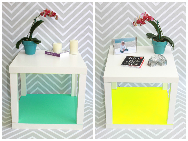 white side table accent color
