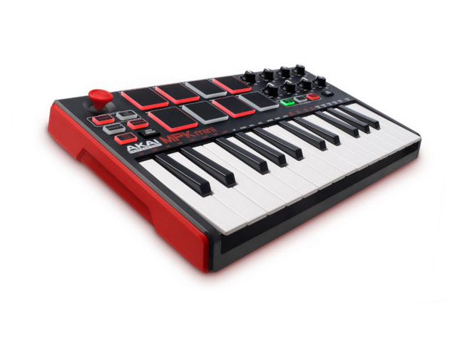 25-Key Ultra-Portable USB MIDI Drum Pad and Keyboard Controller with Joystick