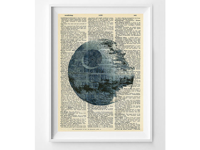 Star Wars 'Death Star' Dictionary Print
