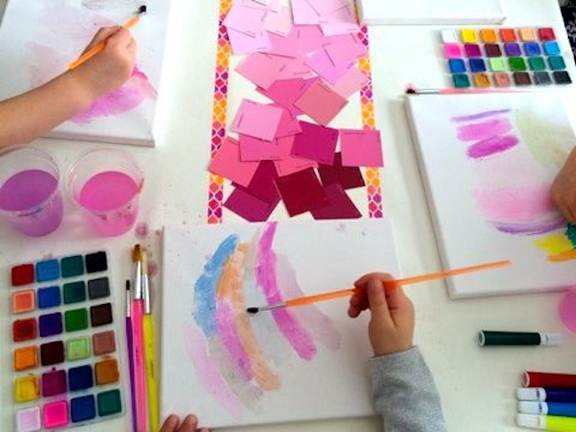 birthday-party-art-canvas-paint-watercolor-pink-diy-paint chip